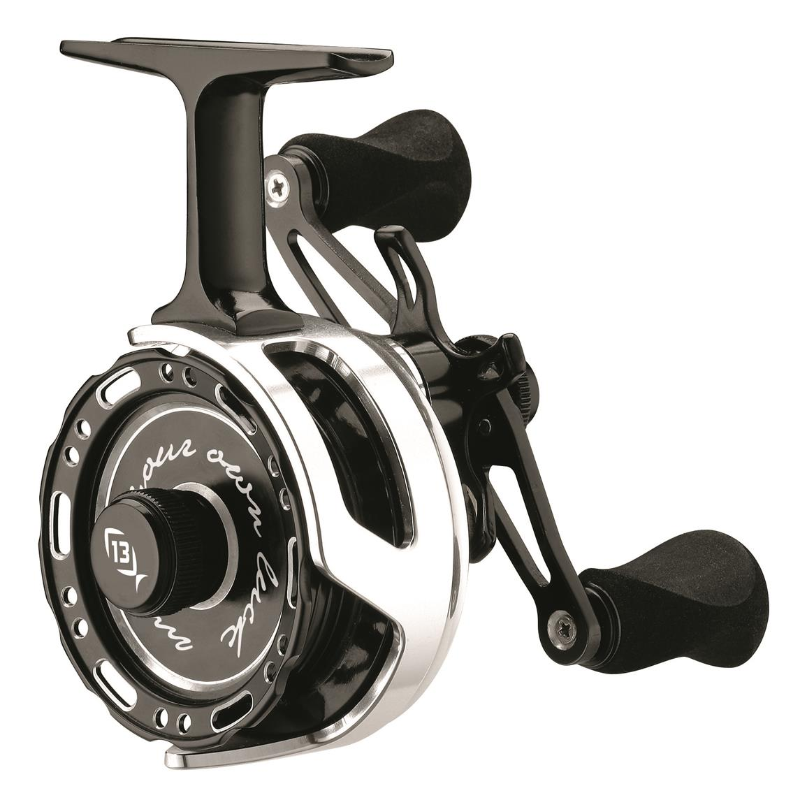 13 Fishing Black Betty Inline Ice Fishing Reel, Right Handed