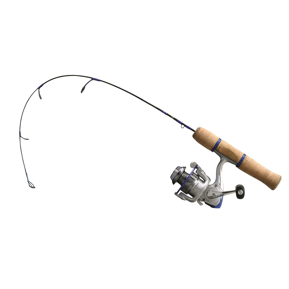 13 fishing white noise ice fishing rod and reel combo