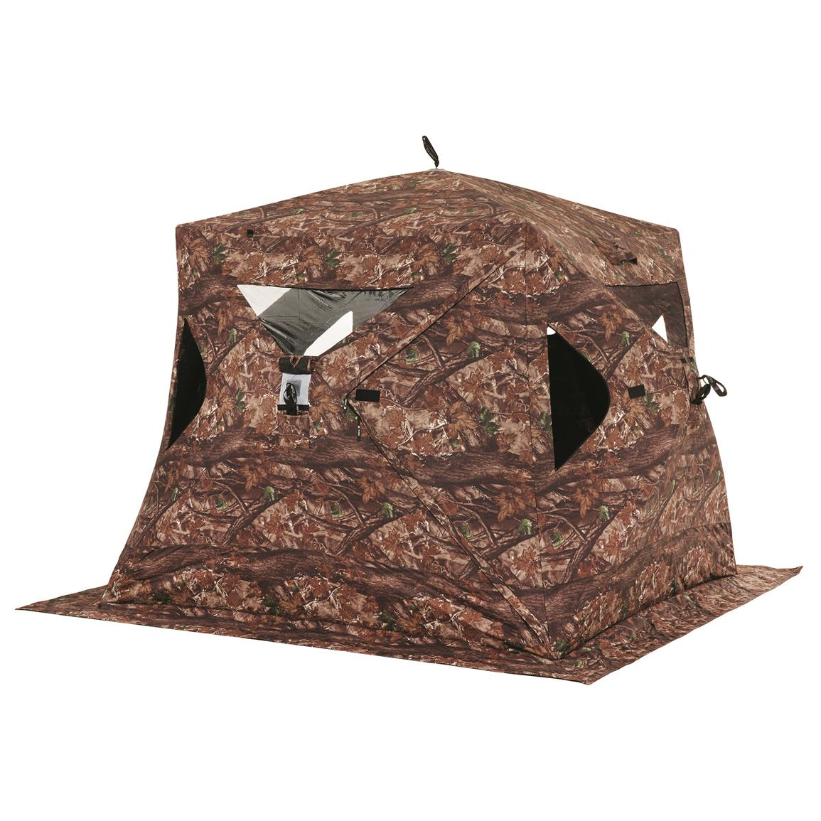 Clam Big Foot XL2000T Camo Hub Ice Fishing Shelter, 2-3 Person