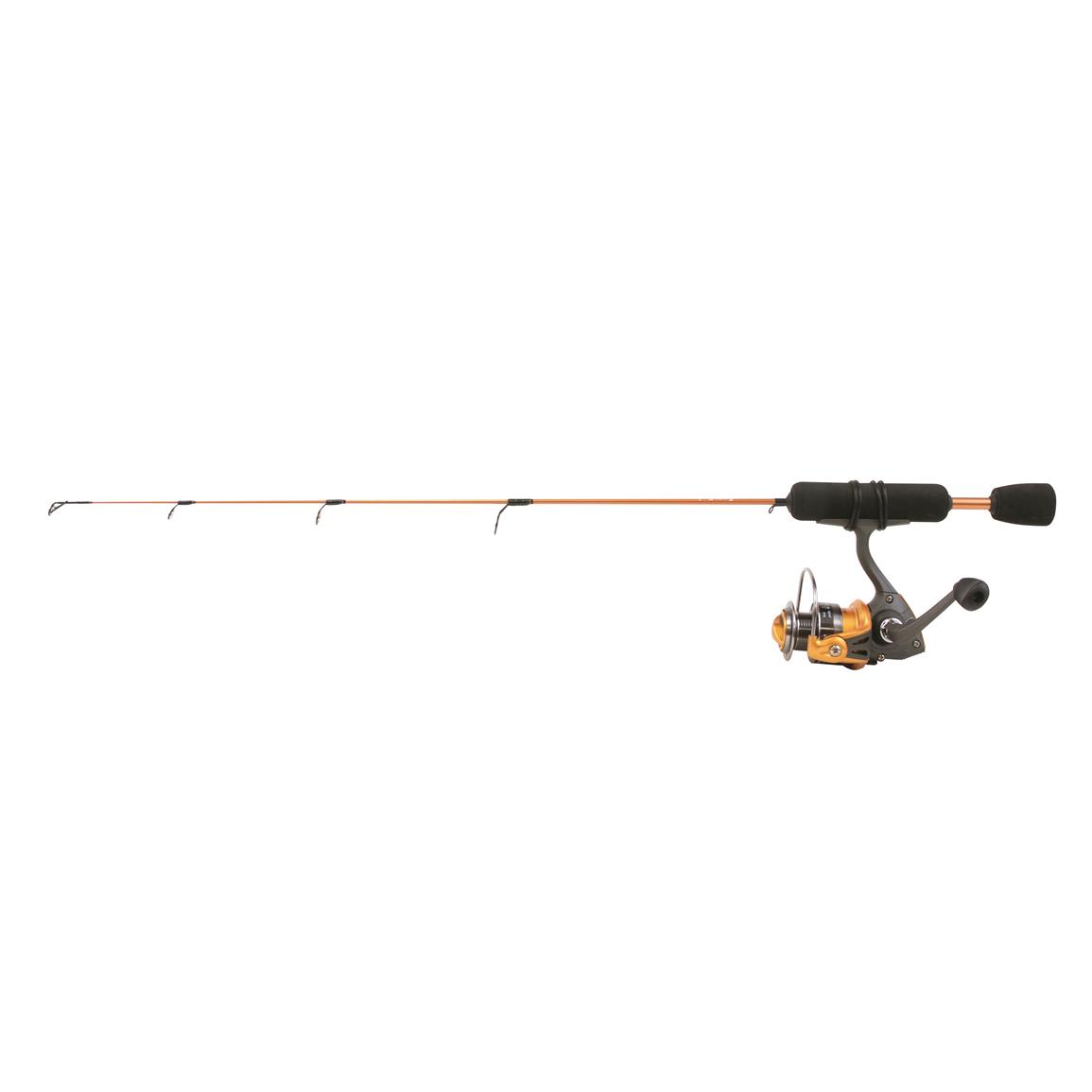 "Clam Dave Genz Power Stick Series 24"" Ice Fishing Rod and Reel Combo, Medium Action"