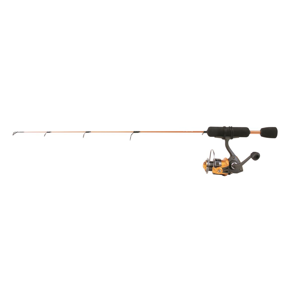 Clam power 26 stick series ice fishing rod and reel combo for Fishing rod reel combo