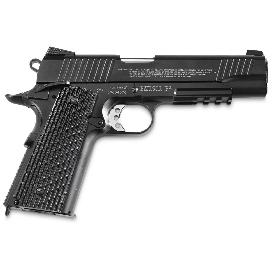 Blackwater BW1911 R2 CO2 Pistol, Semi-Automatic, .177 Caliber, 18 Rounds