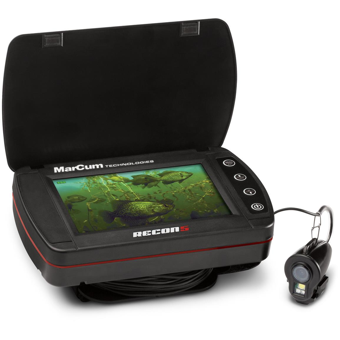 Marcum recon 5 underwater viewing system 670381 ice for Ice fishing electronics
