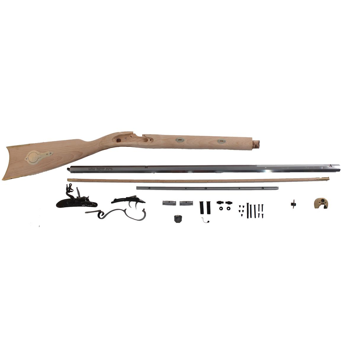 Traditions Mountain Rifle Flintlock .50 Caliber Build It Yourself Muzzleloader Kit