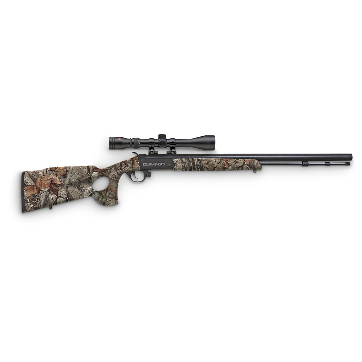 "Traditions Durango Black Powder Rifle, .50 Caliber, 24"" Blued Barrel, 4-12x40mm Scope"