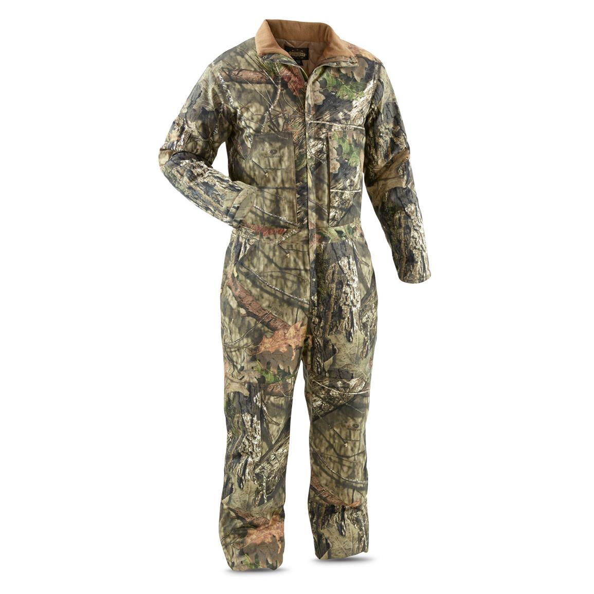 Guide Gear Men's Insulated Silent Adrenaline Hunting Coveralls, Mossy Oak Break-Up Country