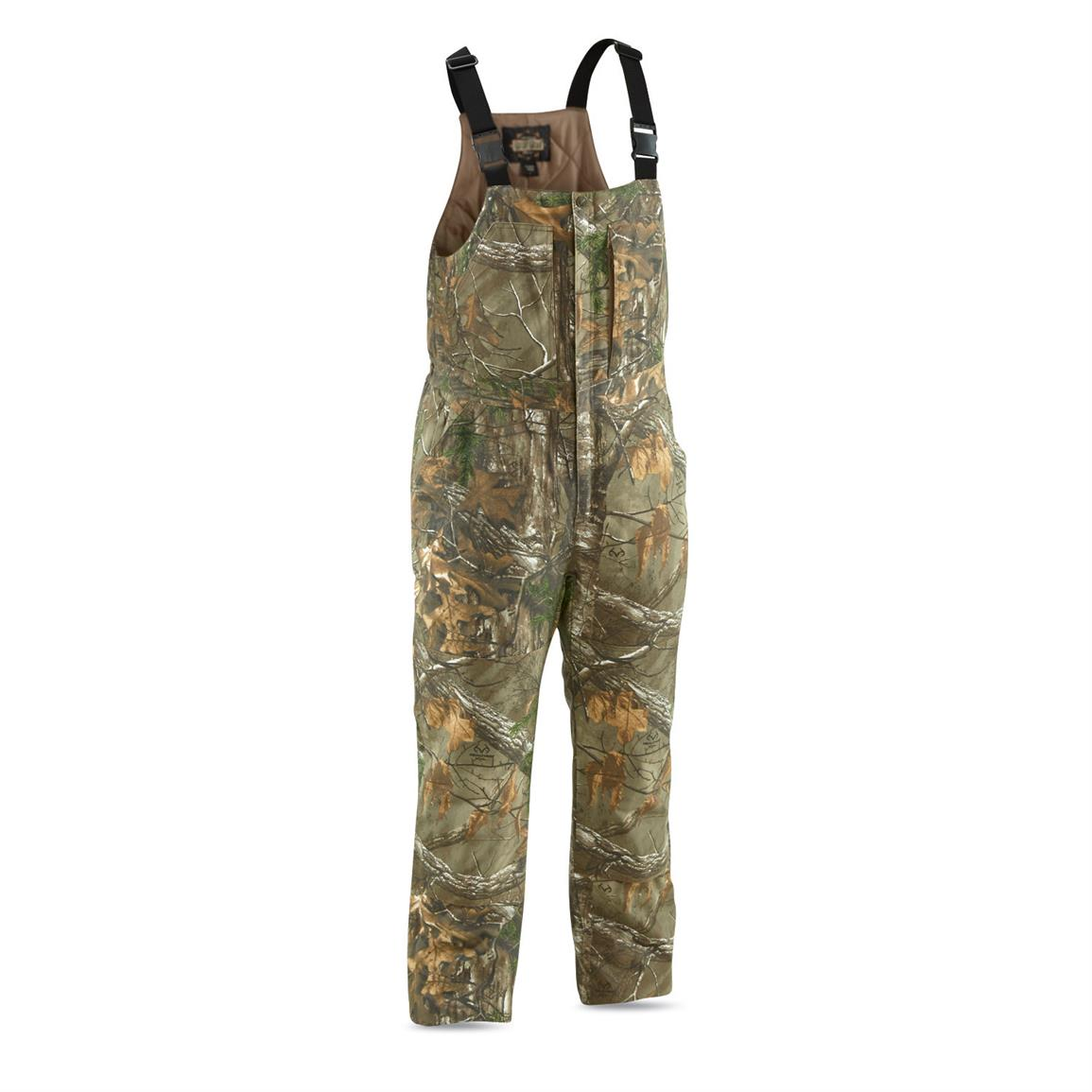 Guide Gear Men's Insulated Silent Adrenaline Hunting Bibs, Realtree Xtra