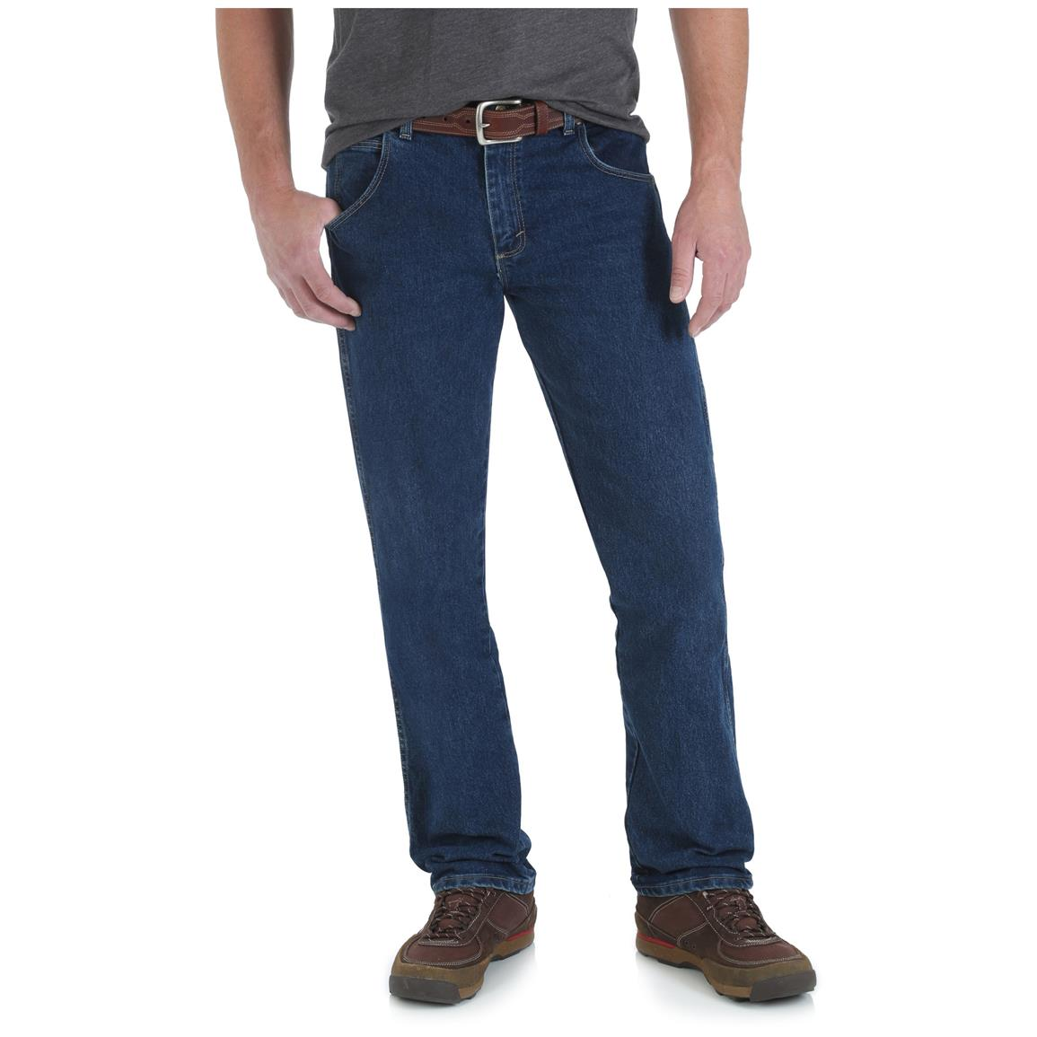 Wrangler Rugged Wear Men's Regular Fit Jean, Dark Stone