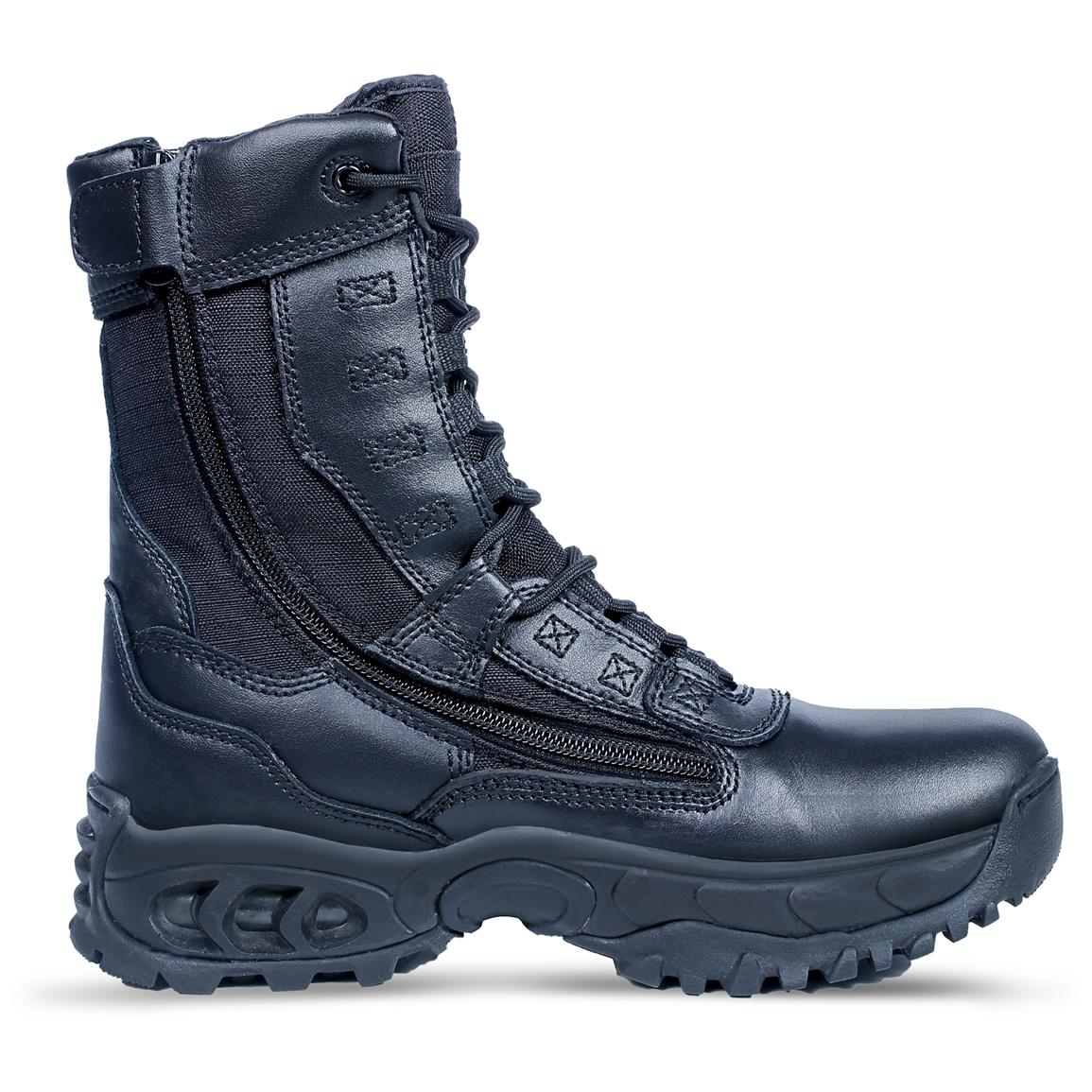 Ridge Outdoors Men's Air-Tac Ghost Side Zip Steel Toe Tactical Boots, Black