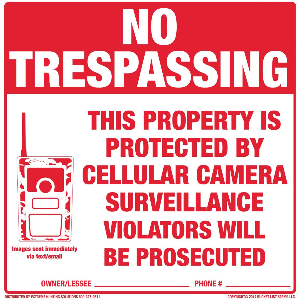 Extreme Hunting Solutions Tyvek No Trespassing Signs, 10 Pack