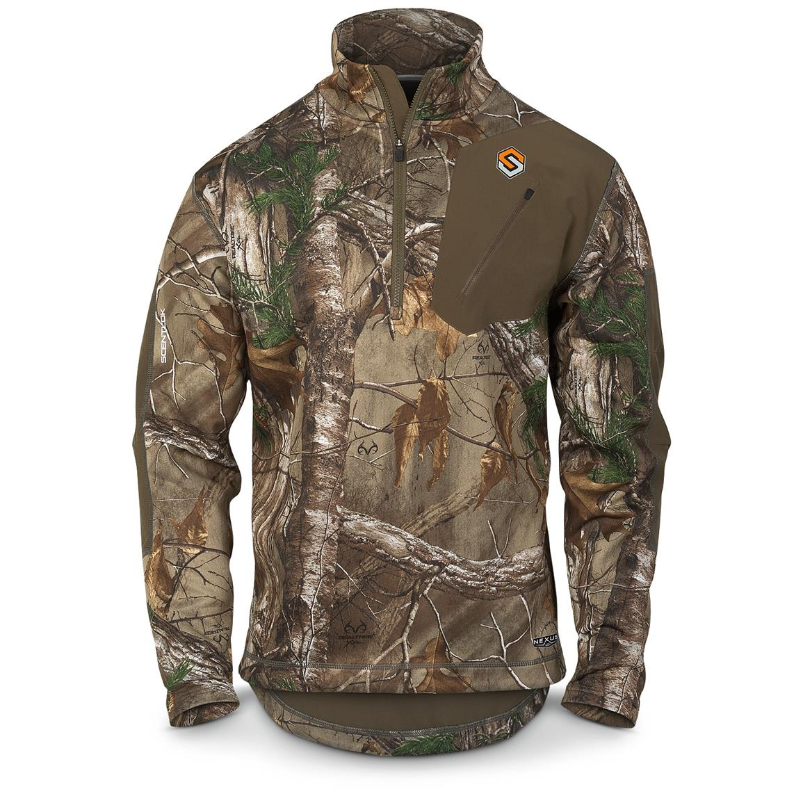 ScentLok Men's Nexus Summit Weight Quarter-Zip Pullover, Realtree Xtra