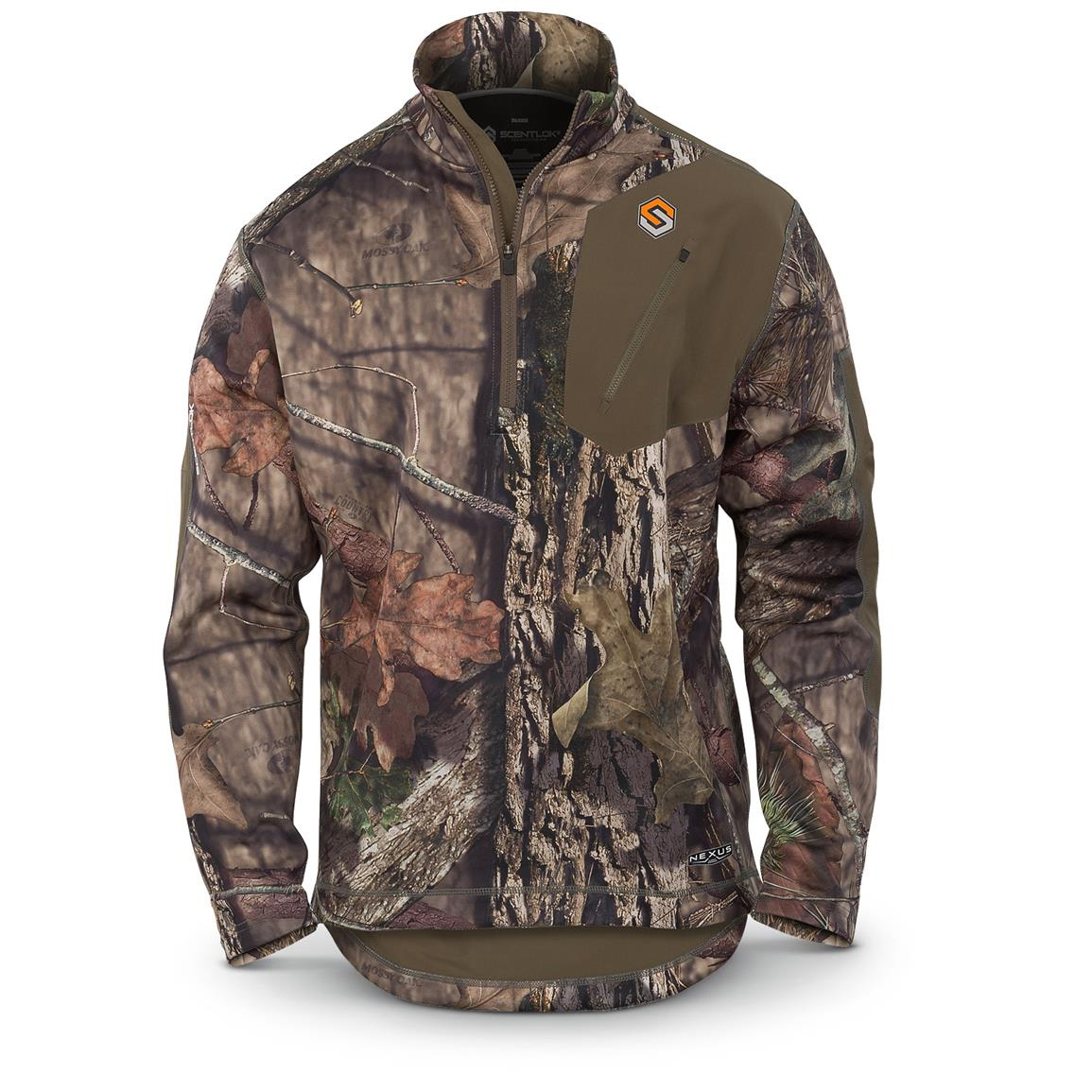 ScentLok Men's Nexus Summit Weight Quarter-Zip Pullover, Mossy Oak Break-Up Country