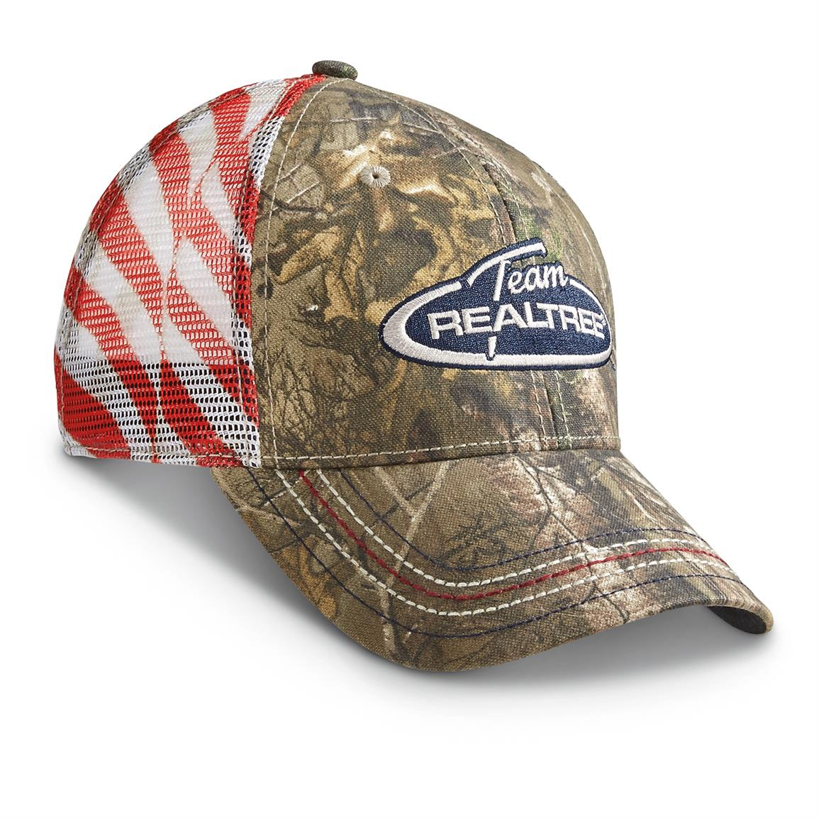 Outdoor Cap Americana Mesh Ball Caps, Realtree Xtra