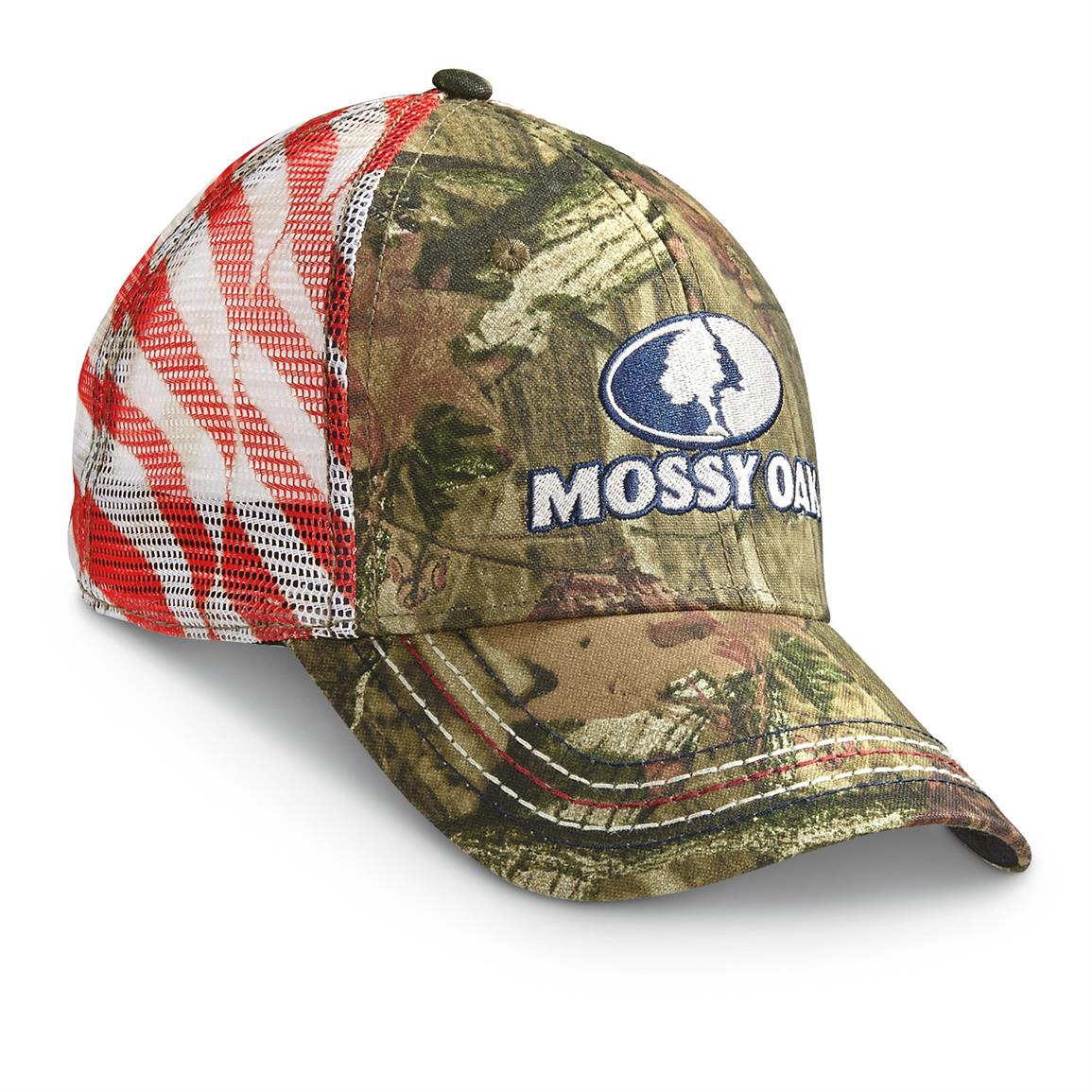 Outdoor Cap Americana Mesh Ball Caps, Mossy Oak Break-Up Infinity