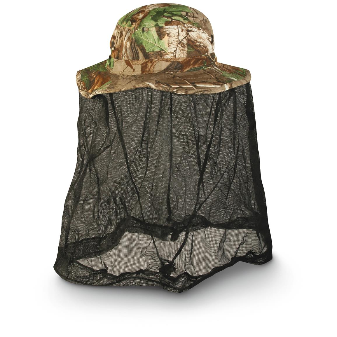 Outdoor Cap Co. Boonie Hat with Bug Net, Realtree Xtra Green