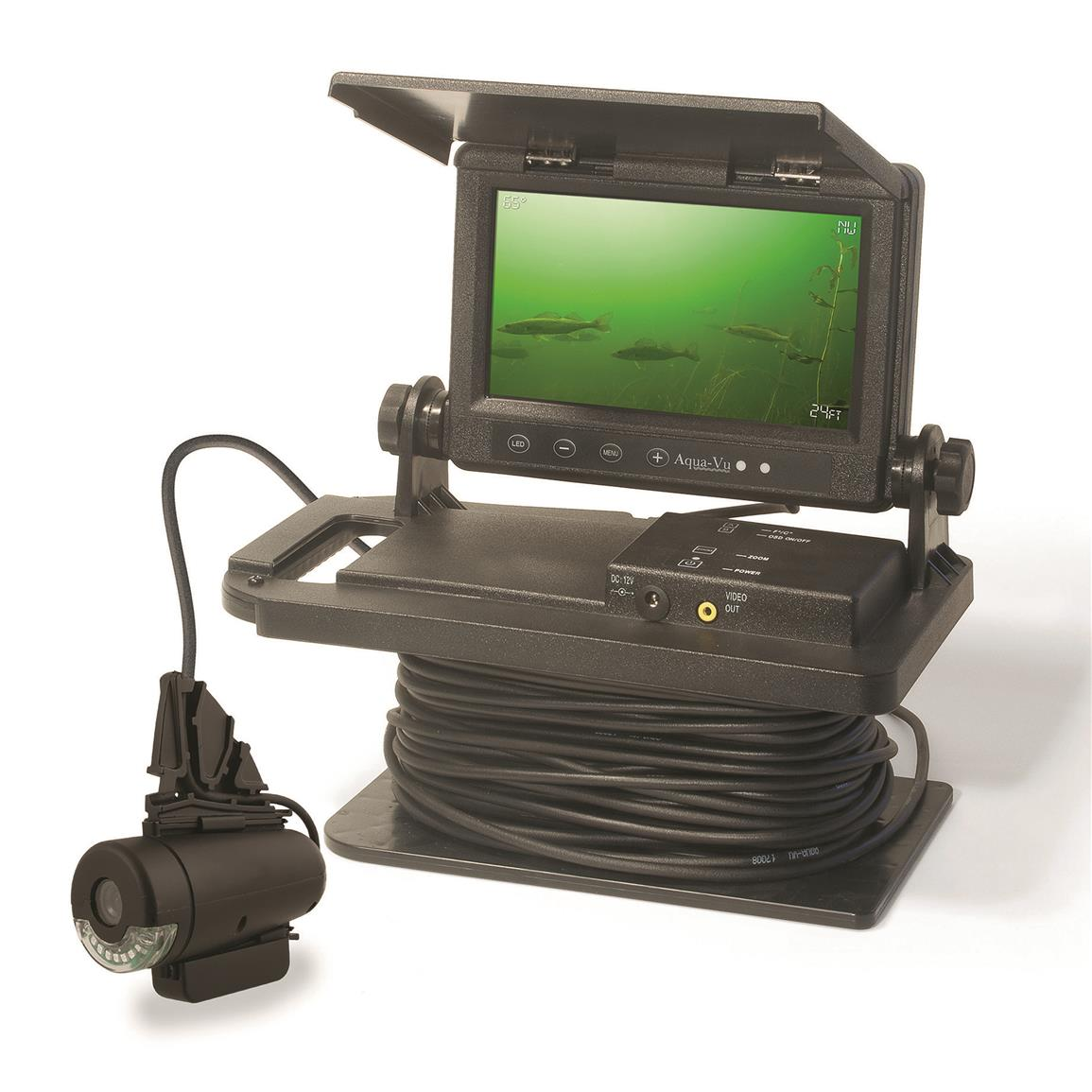 Aqua vu av760czi 7 color underwater camera system for Ice fishing electronics