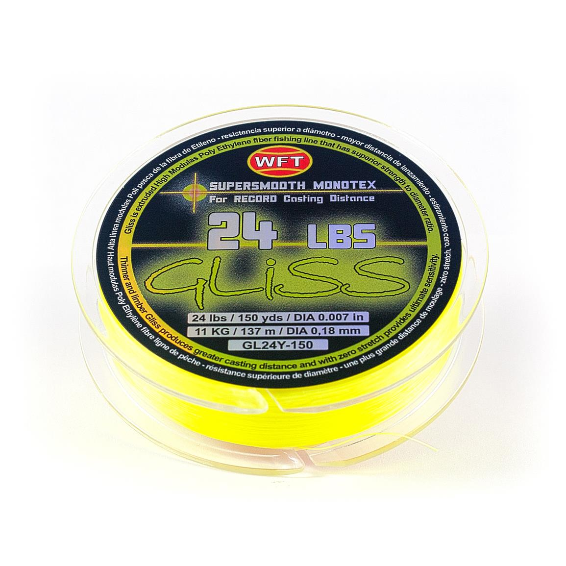 Gliss Monotex Fishing Line, 24-lb., 150 / 300 Yards, Yellow
