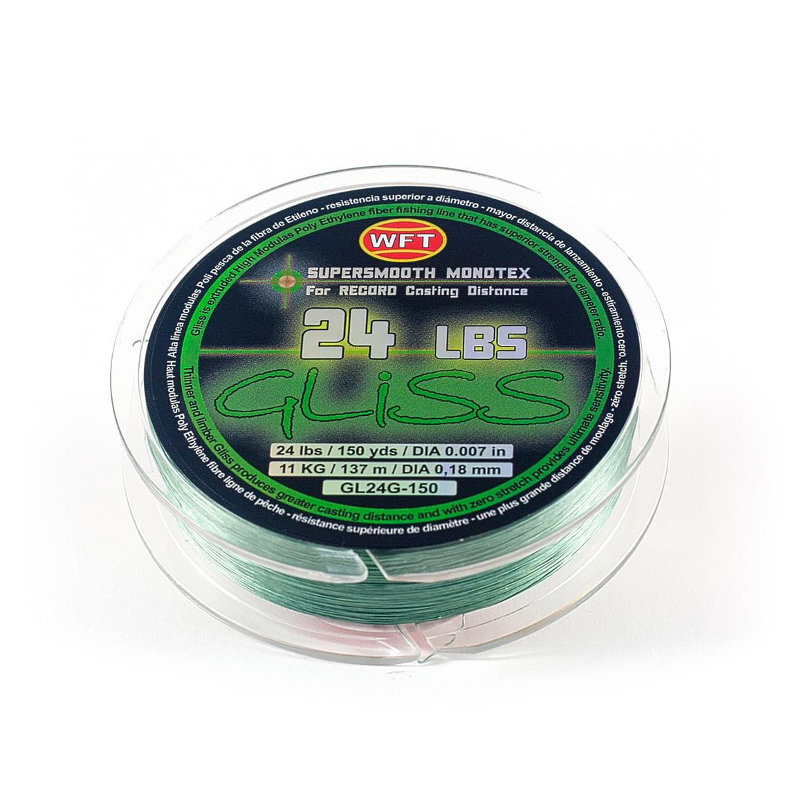 Gliss Monotex Fishing Line, 24-lb., 150 / 300 Yards, Green