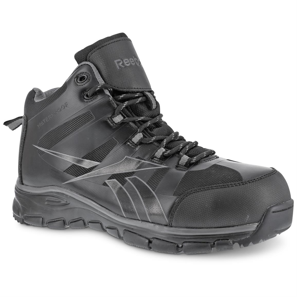 Reebok Men's Arion Composite Toe Waterproof Hiking Boots, Black