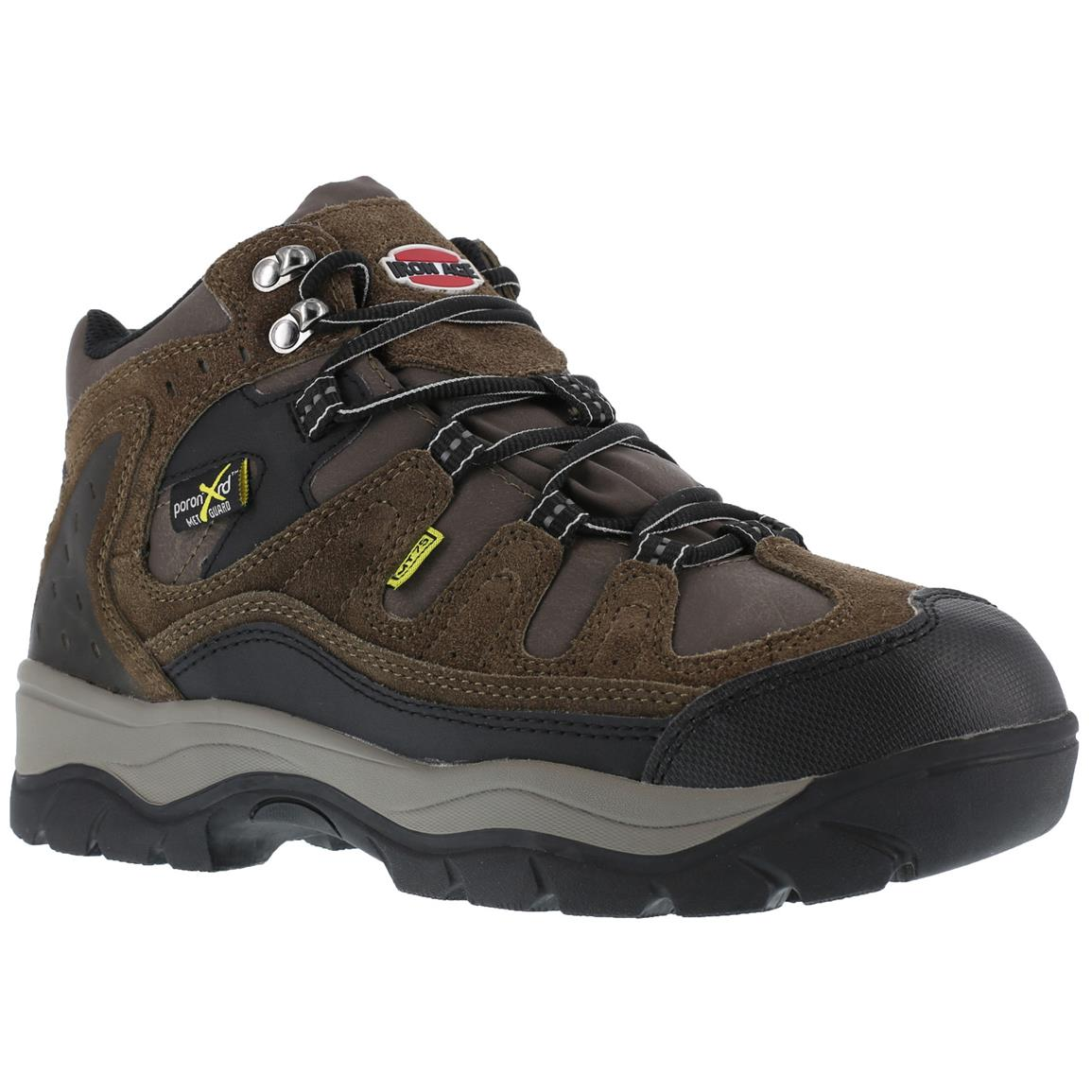 Iron Age Men's High Ridge Boots, Poron XRD, Steel Toe, Brown