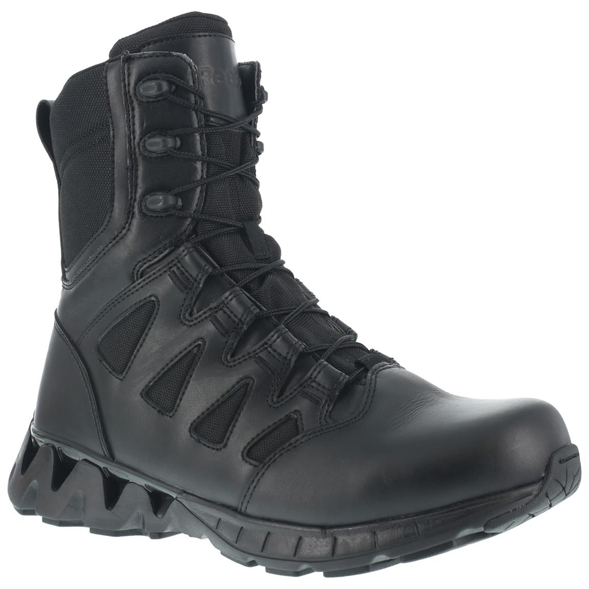Reebok Duty ZigKick SZ Men's Tactical Boots, Side Zip, Black