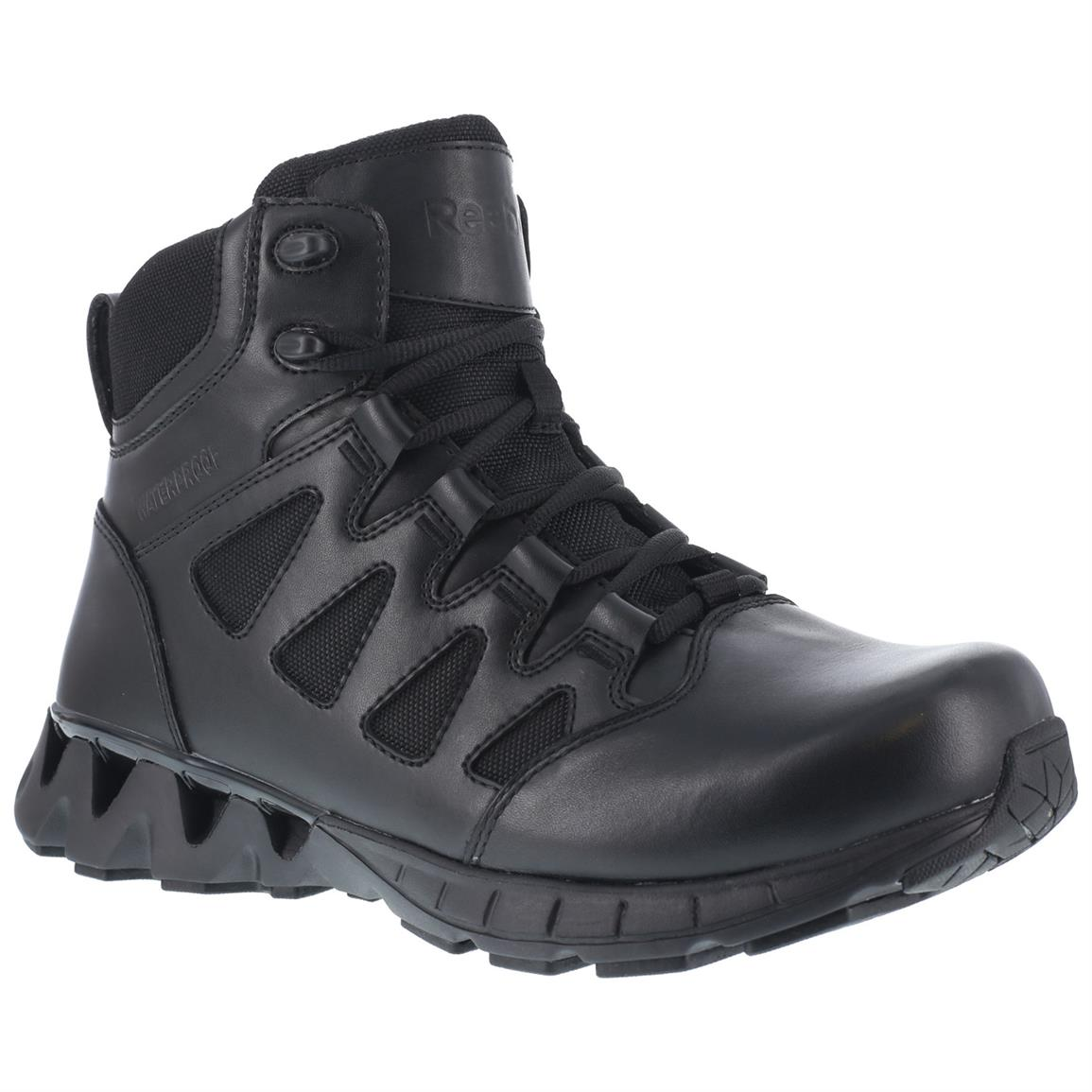 "Reebok Duty 6"" ZigKick SZ Women's Side Zip Tactical Boots, Waterproof, Black"