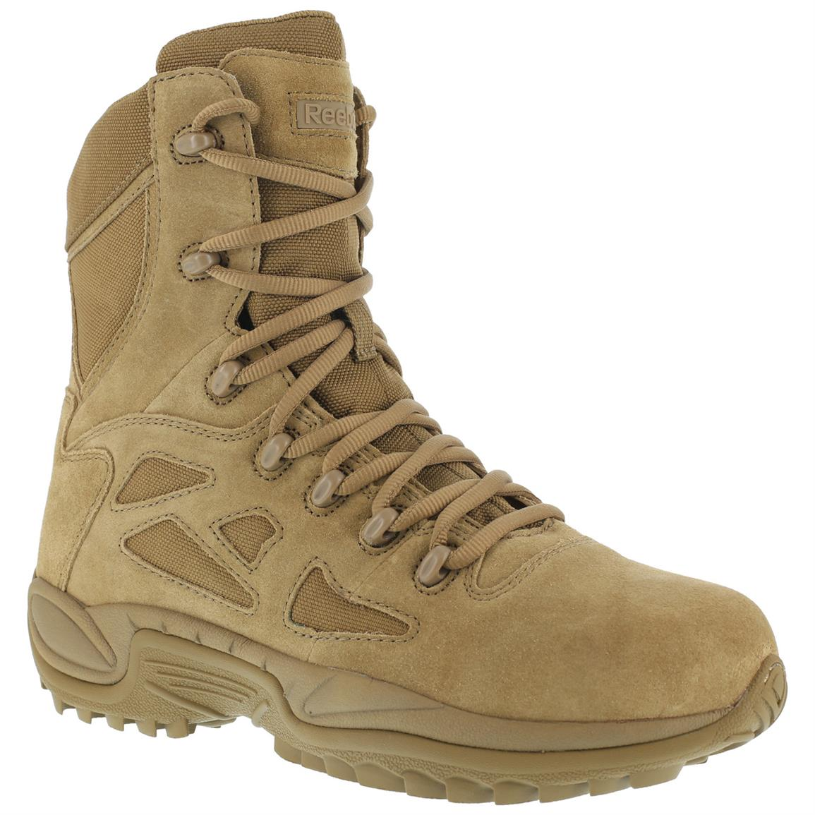 "Reebok 8"" Rapid Response RB Men's Combat Boots, Brown"