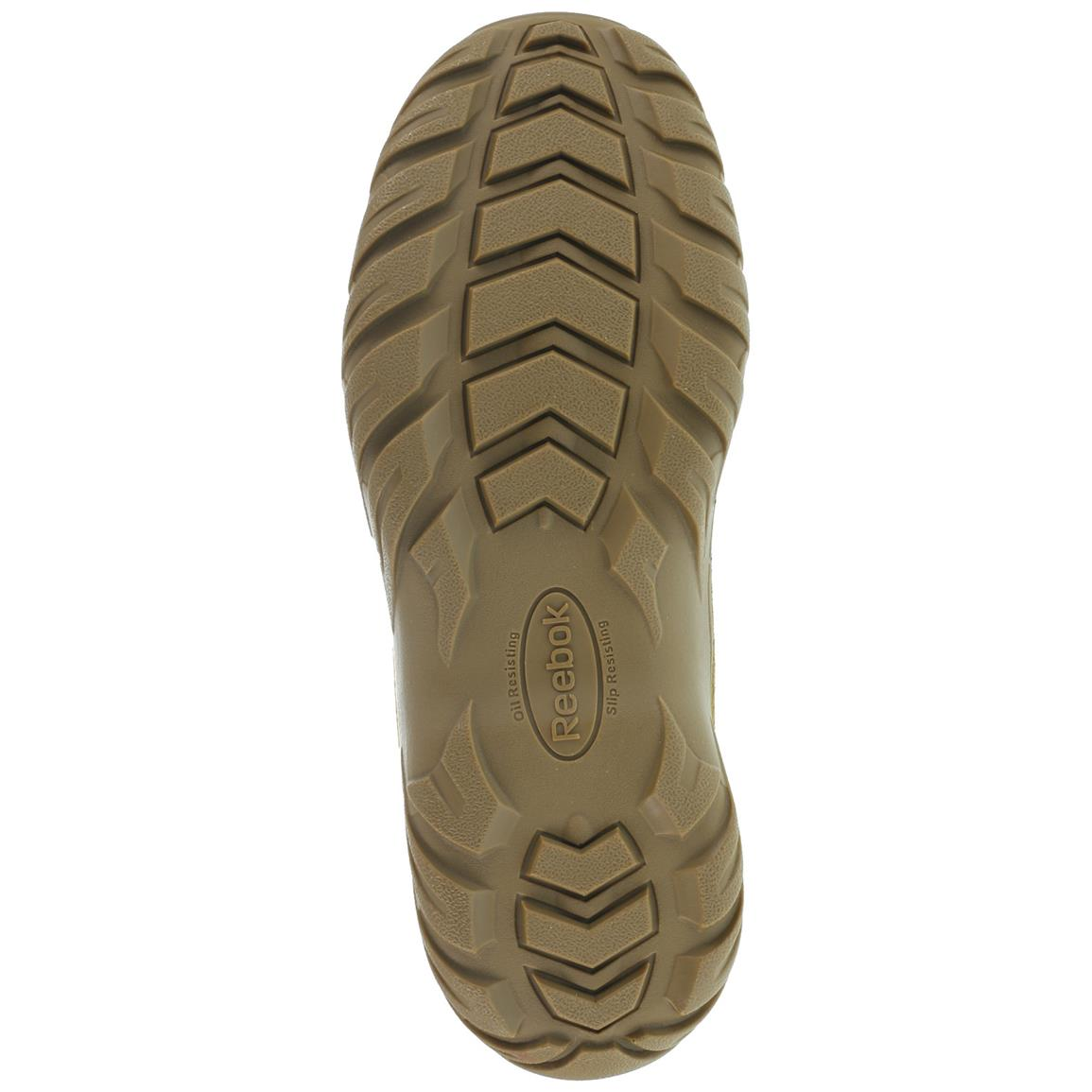 RECON Rugged Terrain polyurethane outsole is slip-, oil- and chemical-resistant