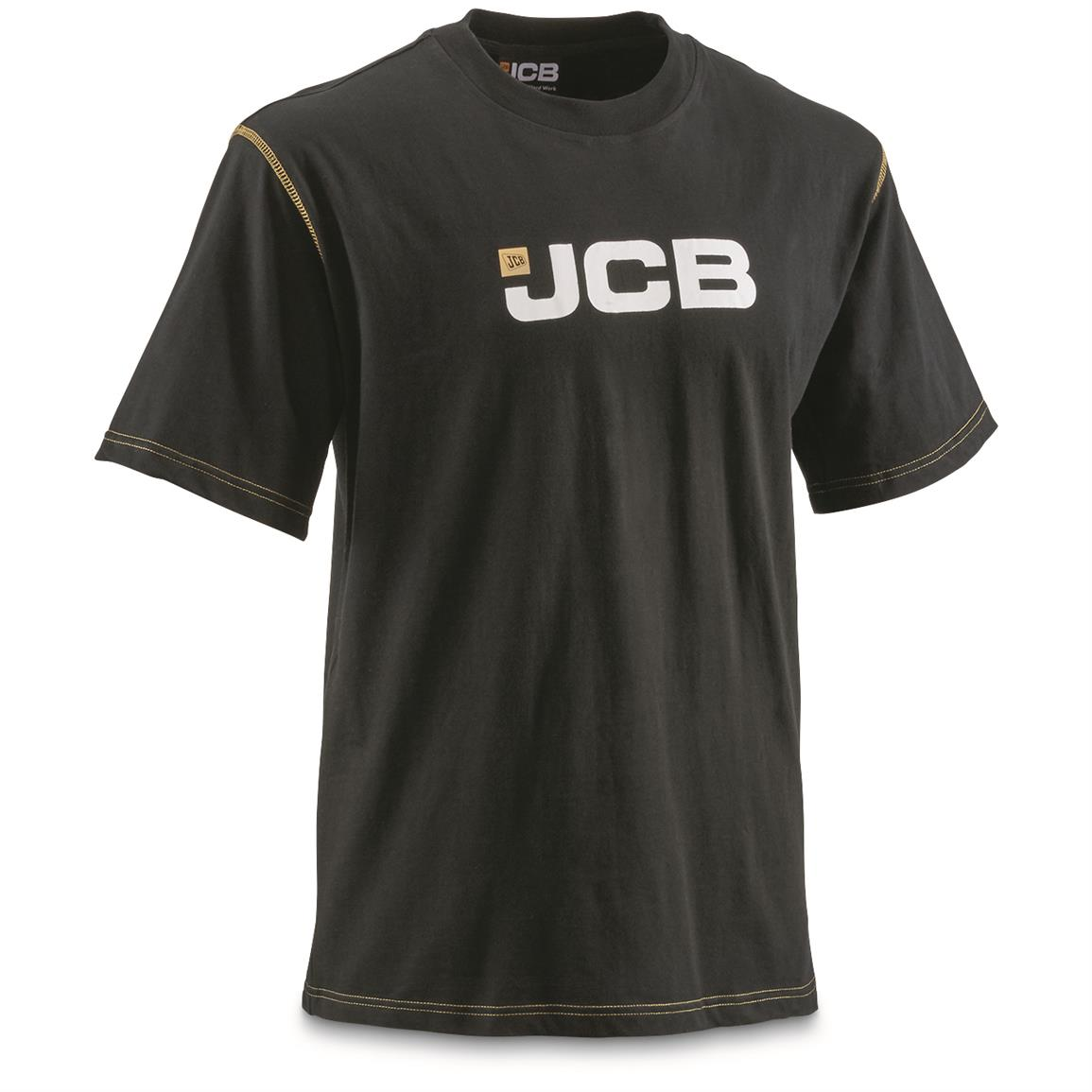 JCB Military Contractor Workwear T-Shirt, New, Black