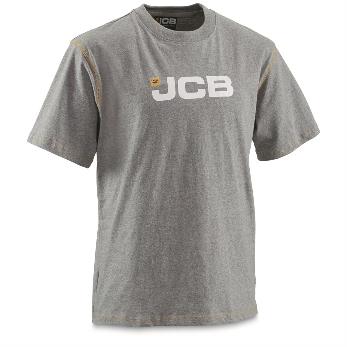 JCB Military Contractor Workwear T-Shirt, New, Gray