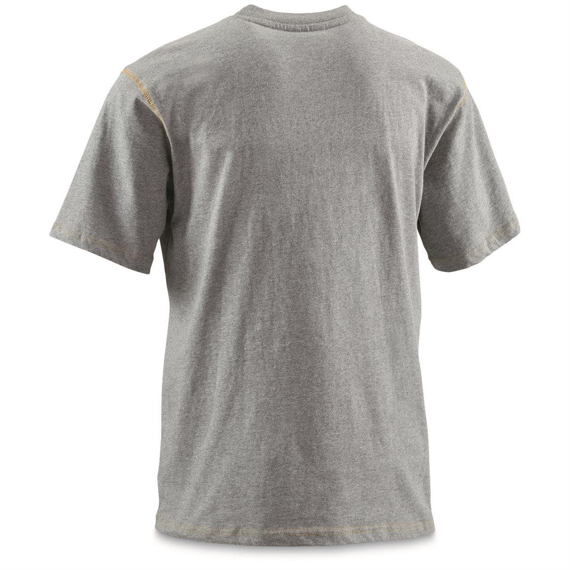 Reinforced double stitched neckline • Gray