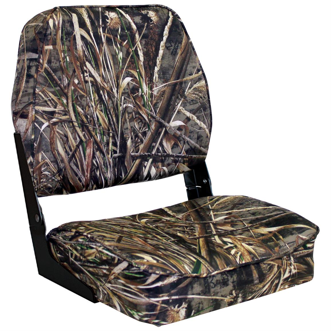 Wise Low Back Camo Boat Seat, Reatree MAX-5