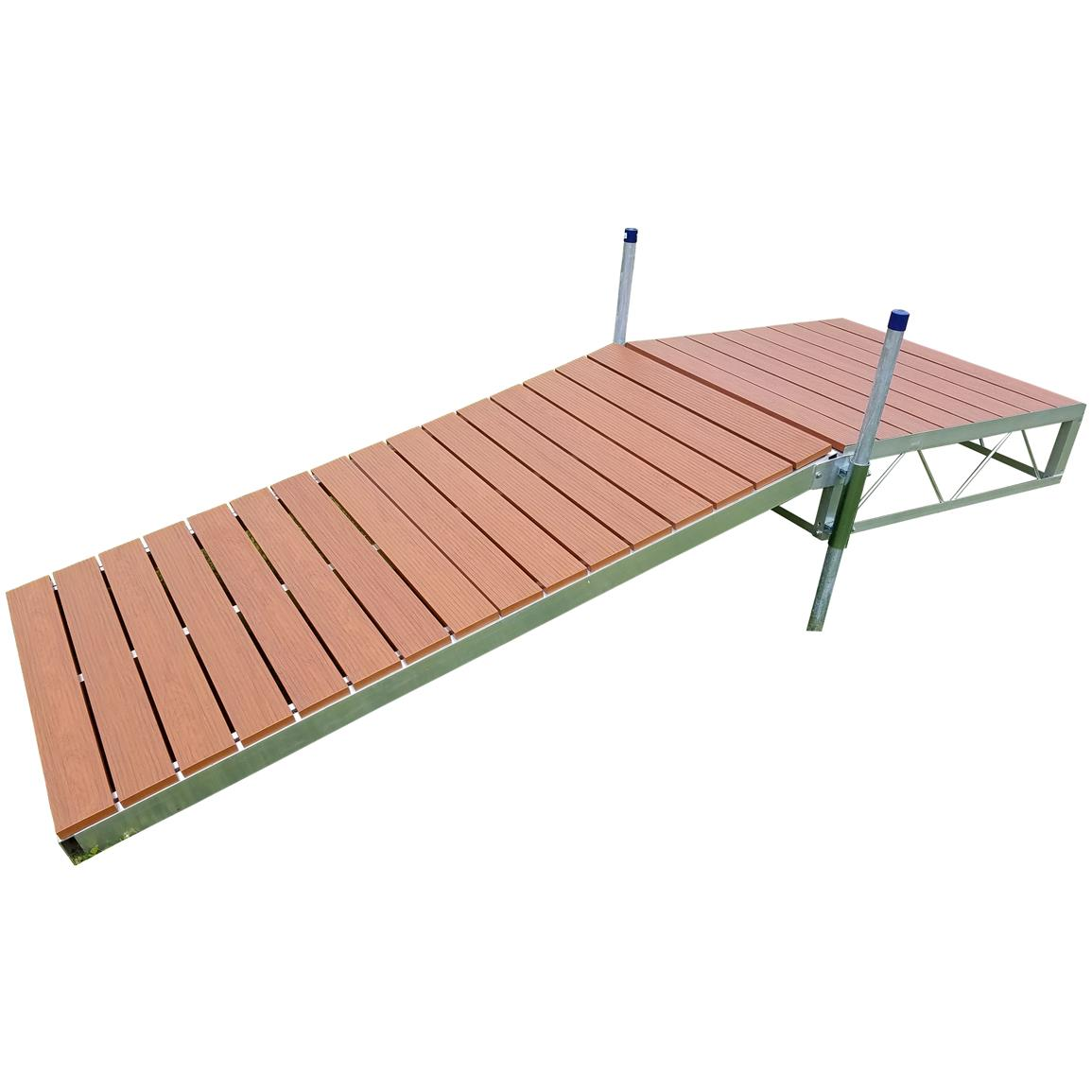 Patriot Shore Ramp Kit, 8 foot Aluminum Deck, Aluminum Brown