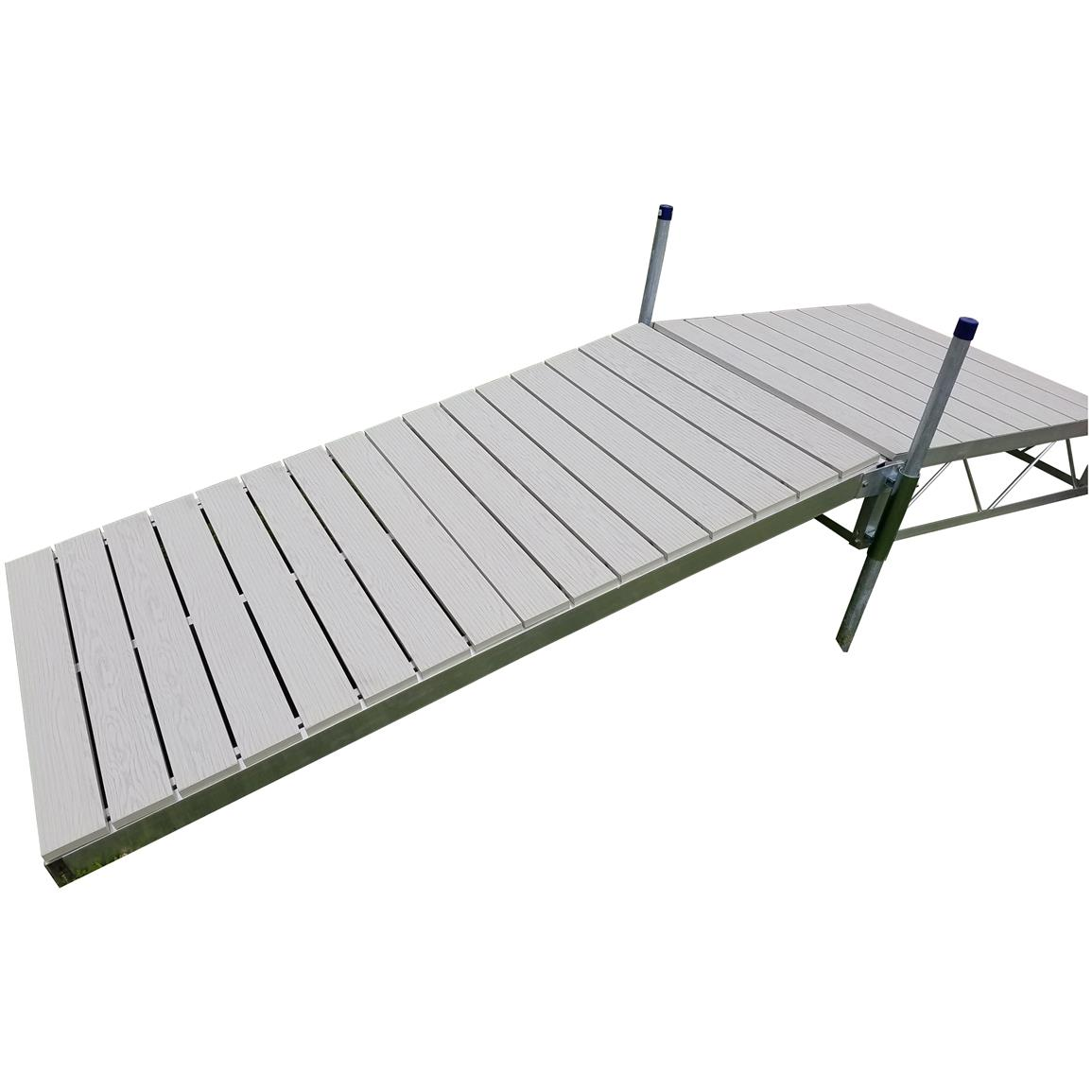Patriot Shore Ramp Kit, 8 foot Aluminum Deck, Aluminum Gray
