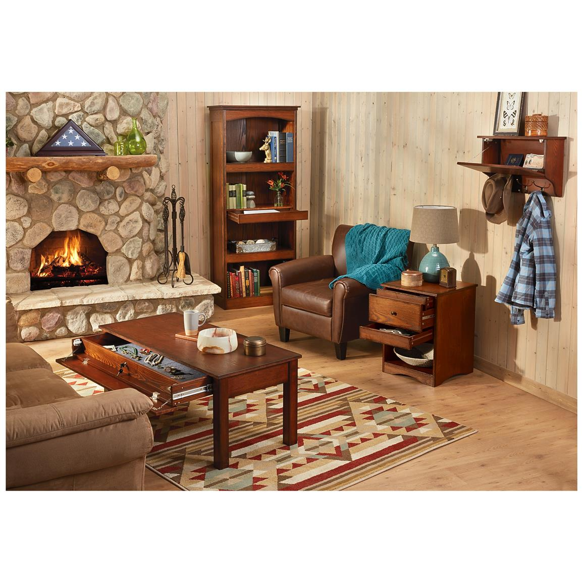 CASTLECREEK Gun Concealment End Table - 671297, Living Room at ...