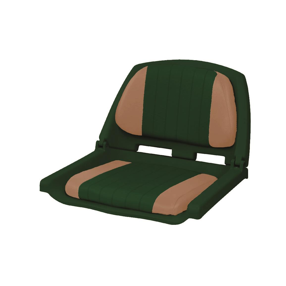Wise Folding Plastic Fishing Boat Seat with Cushion Pads, Color J - Green and Tan