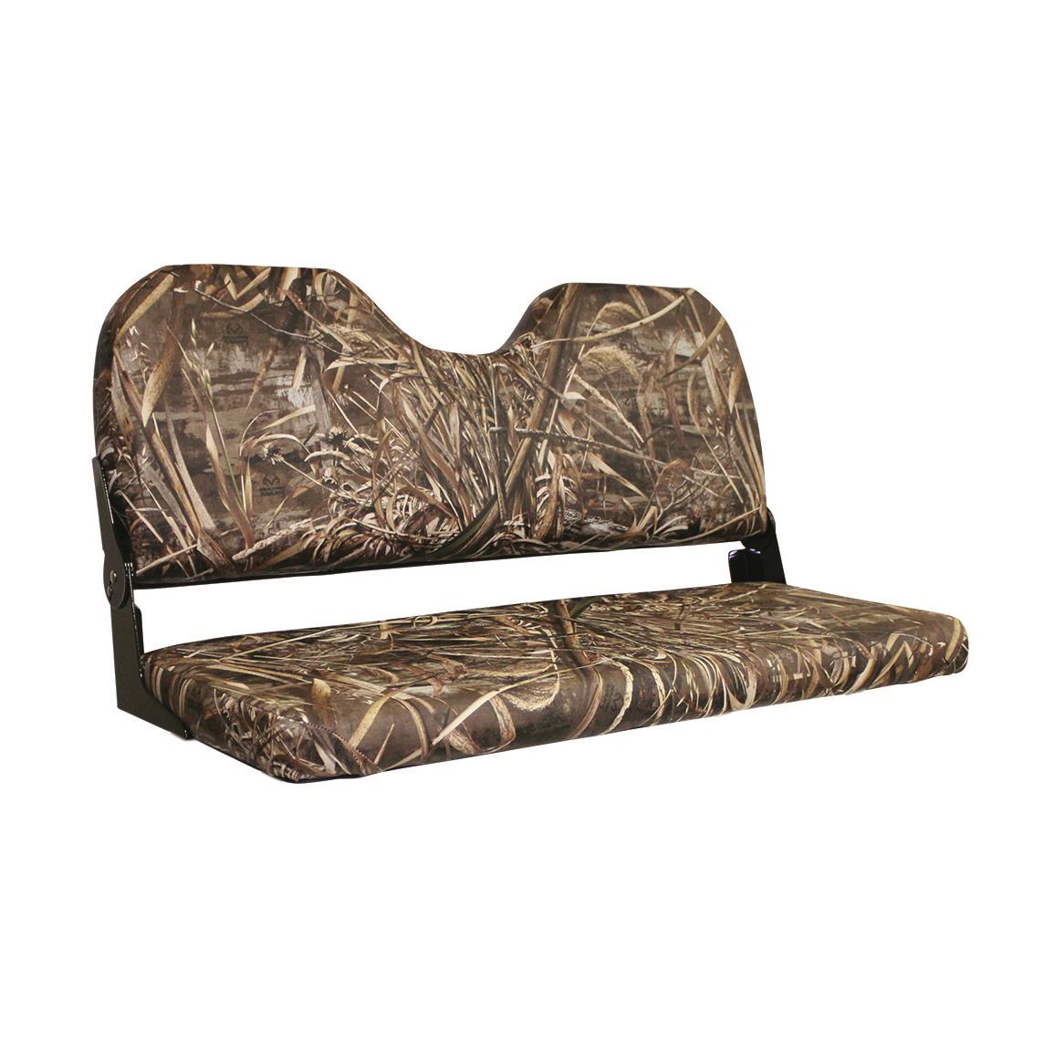 "Wise 42"" Folding Camo Bench Seat, Realtree Max-5"