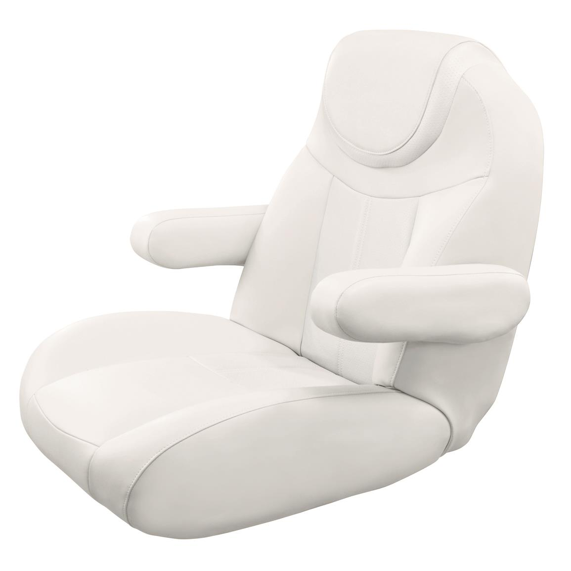 Wise Tellico Mid Back Recliner Pontoon Bucket Seat, Color C - Cuddy Brite White