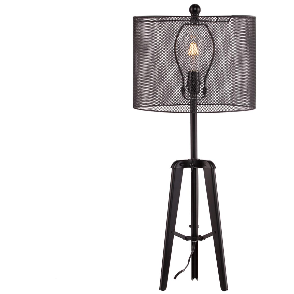 Xerxes Table Lamp, Edison Bulb