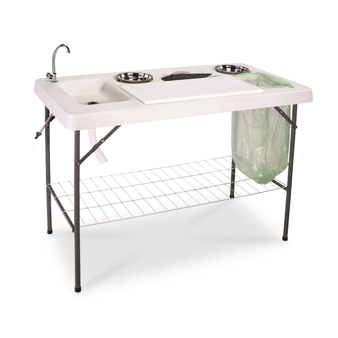 Guide Gear Deluxe Fish / Game Processing Table with Faucet and Accessories