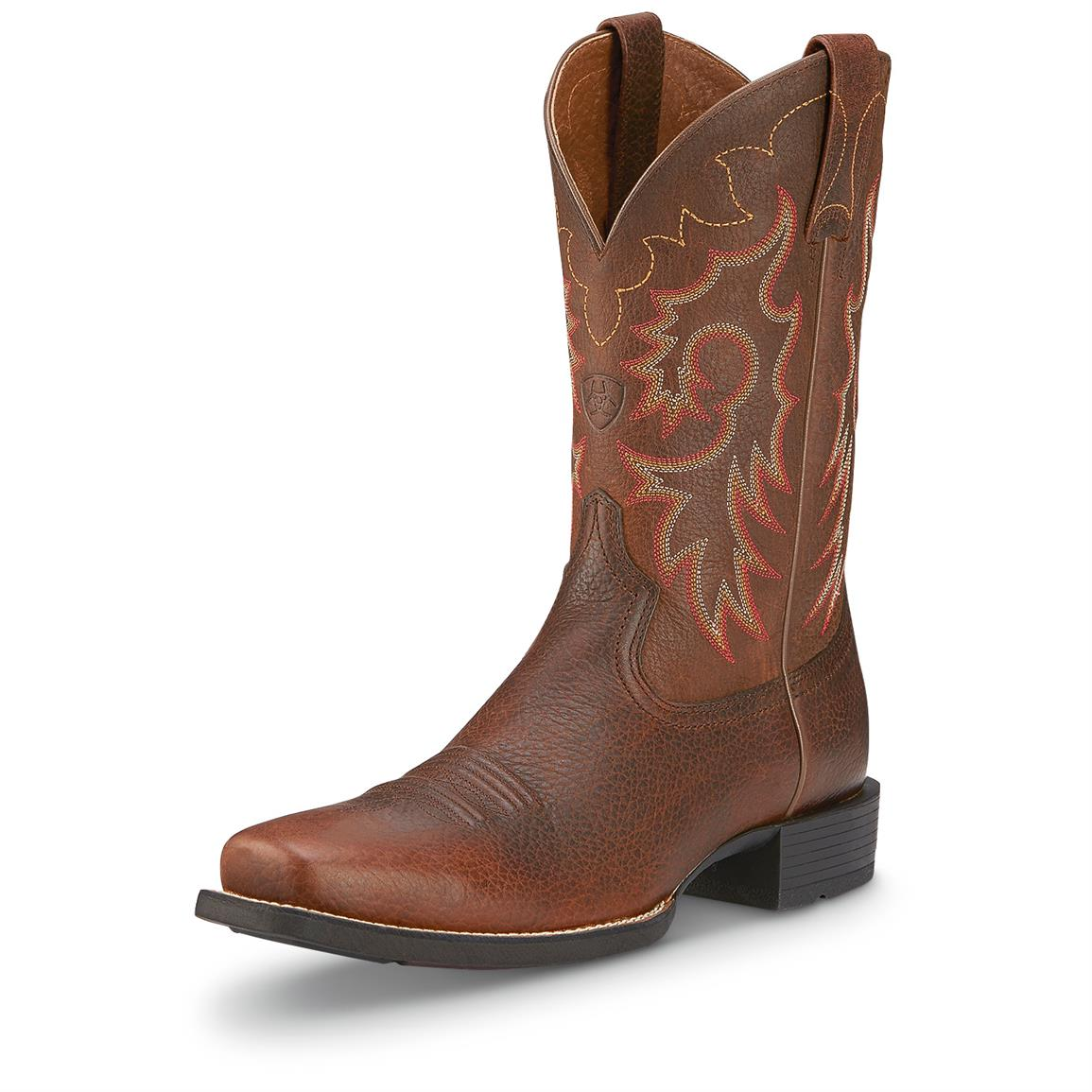 Ariat Men's Heritage Reinsman Cowboy Boots, Brown