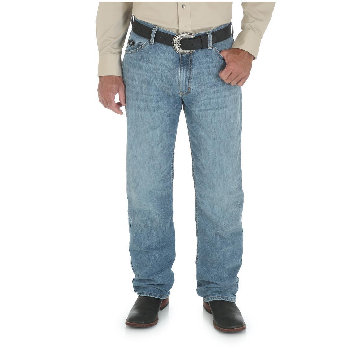 Wrangler Men's 20X 01 Competition Relaxed Jean, Cool Vantage, Ocean Blue