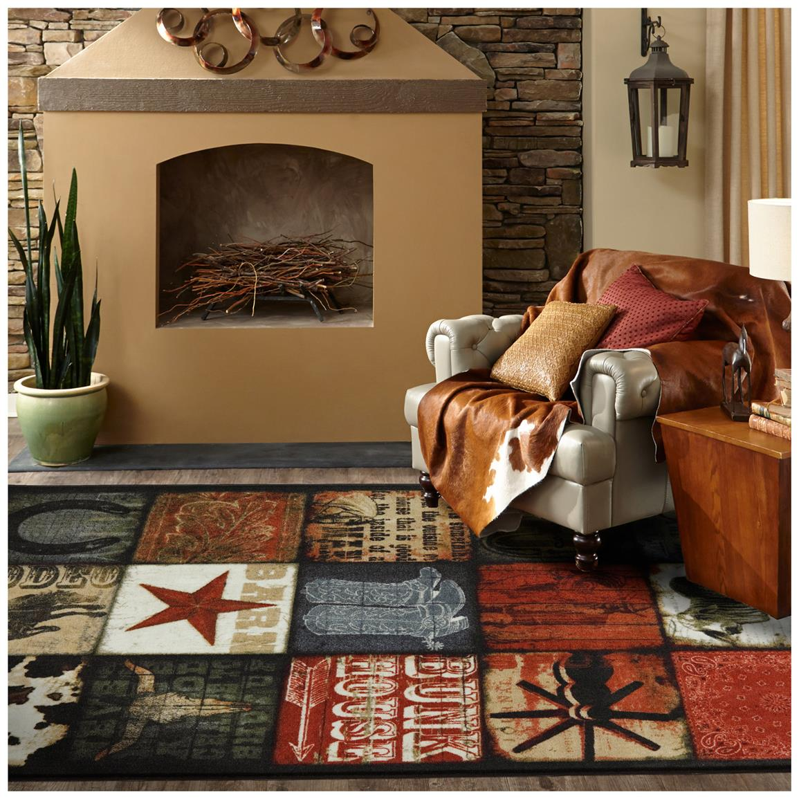 Rustic and rich patchwork motifs embrace Western style!