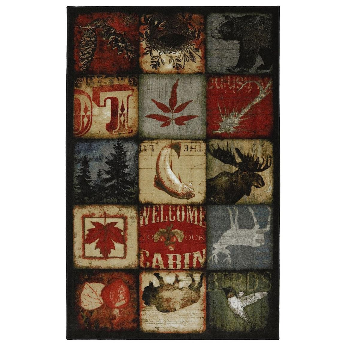 Lodge Patches Rug