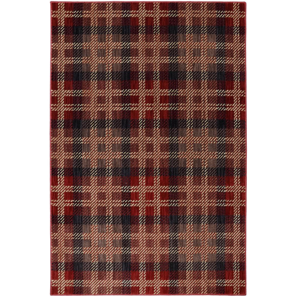 Billings Black Rug, Crimson