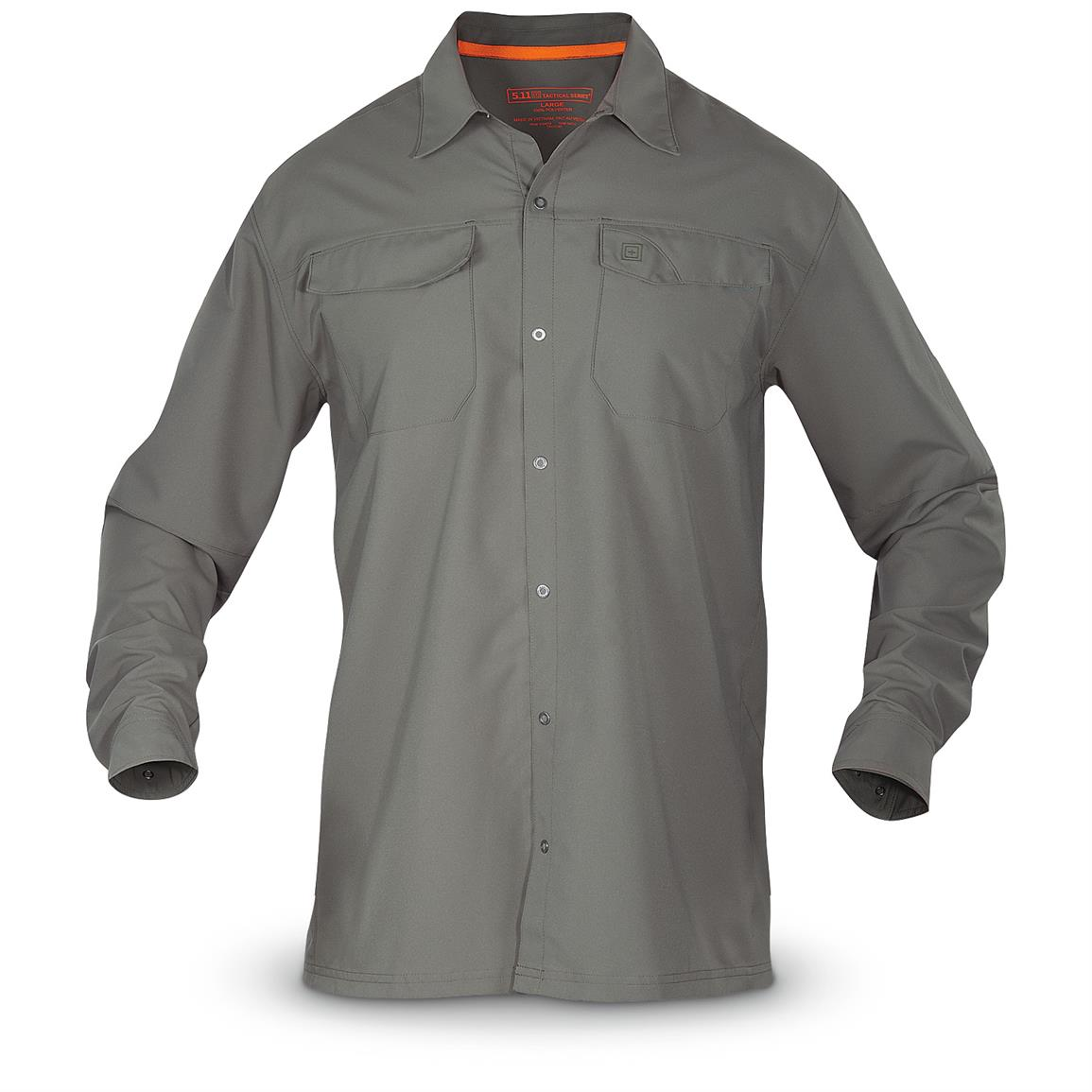 5.11 Tactical Men's Freedom Flex Long Sleeve Shirt, Storm