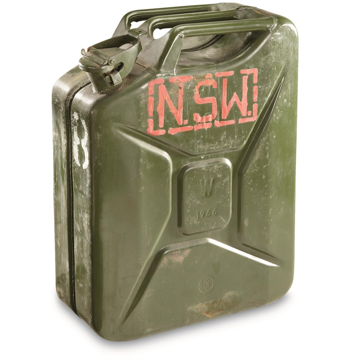 NATO Military Surplus 20L Steel Jerry Can, Used