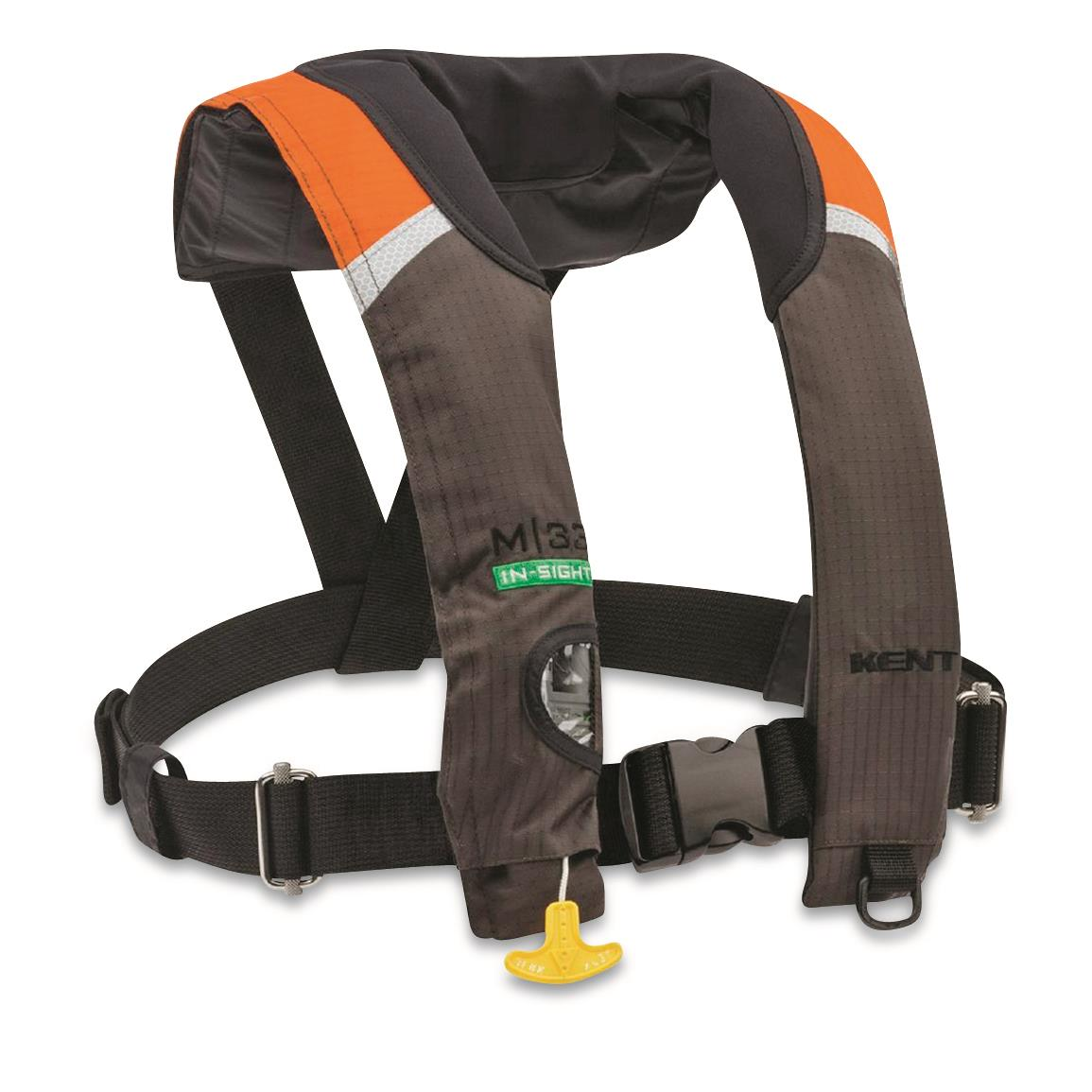 Kent M-33 Manual Inflatable Life Jacket, Orange