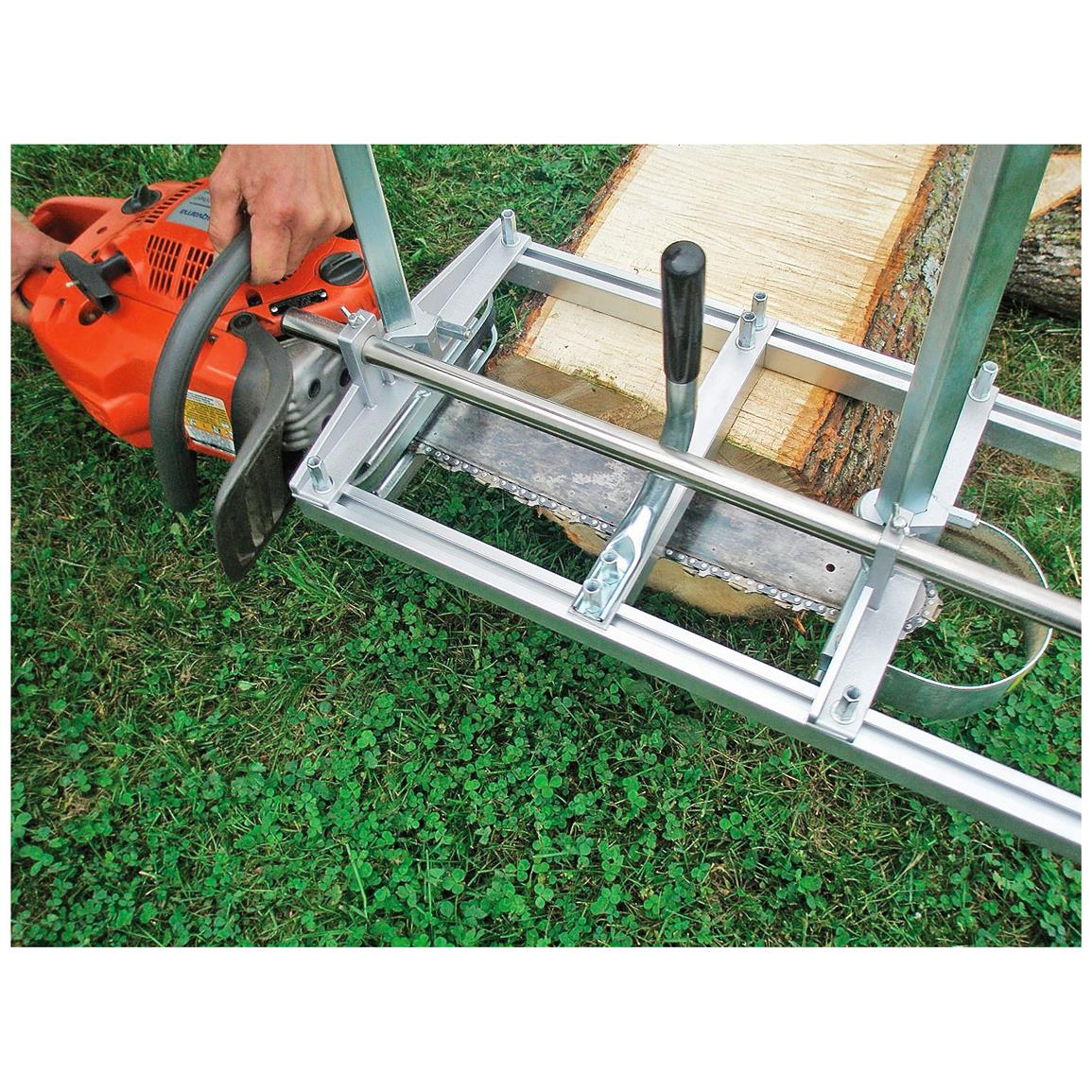 Attaches directly onto your chainsaw bar with fast and easy installation with the included hardware.
