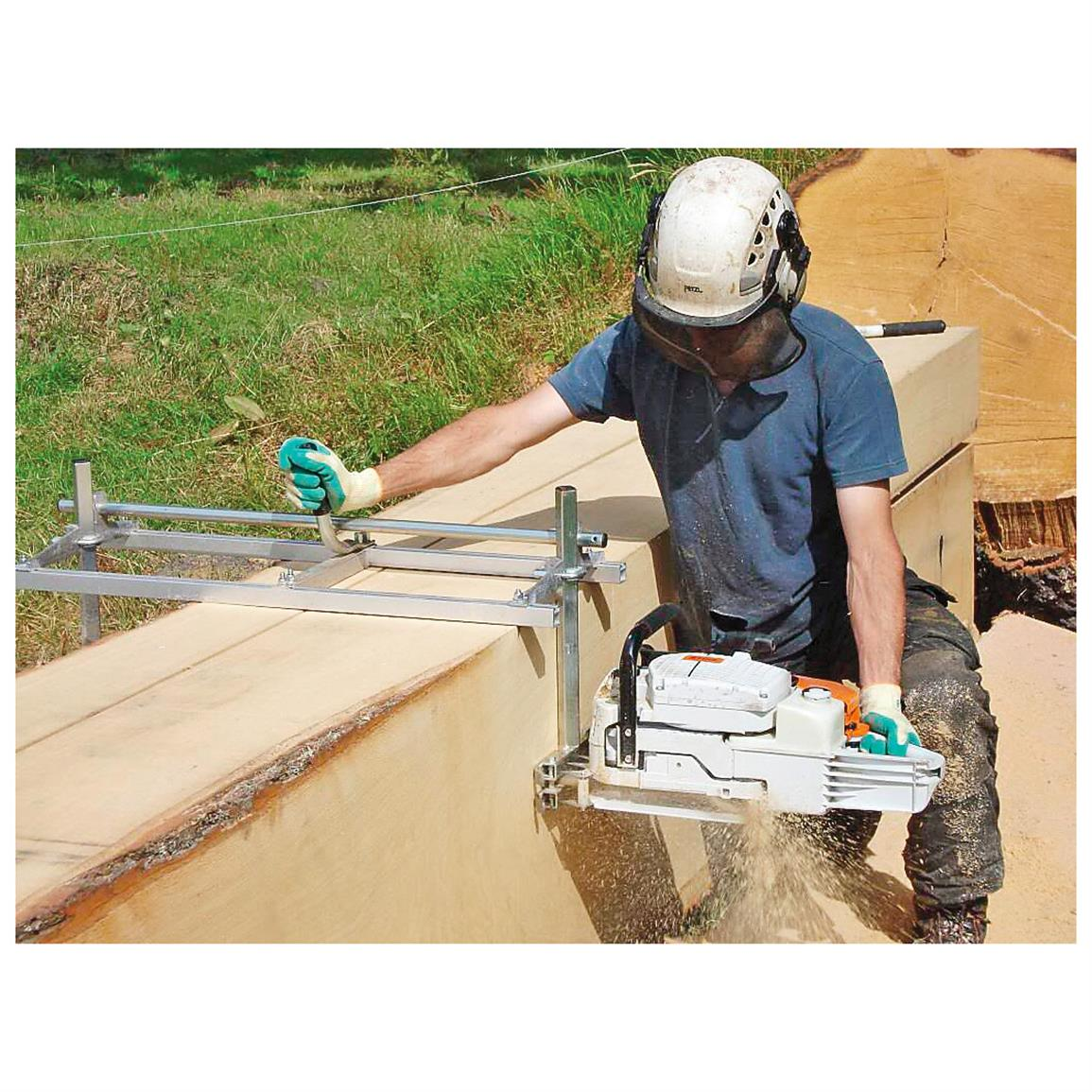 Works for big or small jobs - will cut any length of lumber, depending on your log length